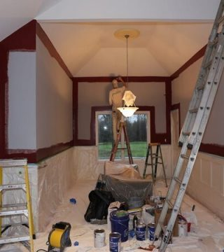 Painting-a-home-interior-red